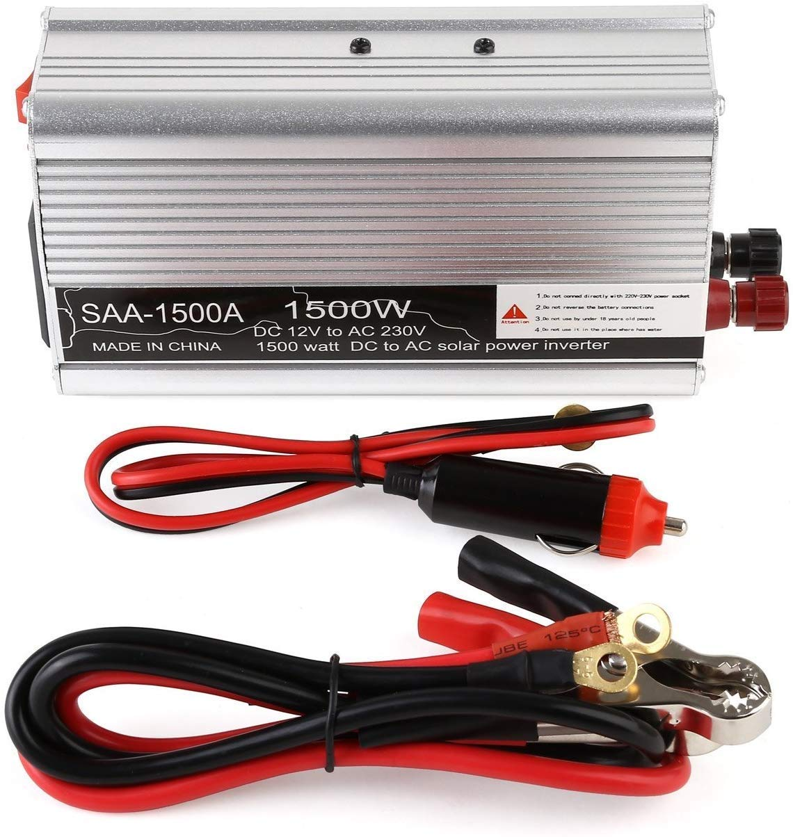 DJNBQ 1500W de Potencia Auto Power Inverter DC 12V a 220V / 230V ...