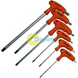 Dapetz ® 6Pc T-Handle Ball Ended Hex Key Long Reach Allen Screwdriver H2 - H8mm