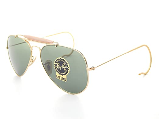 f0ad1fb193 Image Unavailable. Image not available for. Color  Ray Ban Outdoorsman  RB3030 L0216 Gold Green Classic 58mm Sunglasses