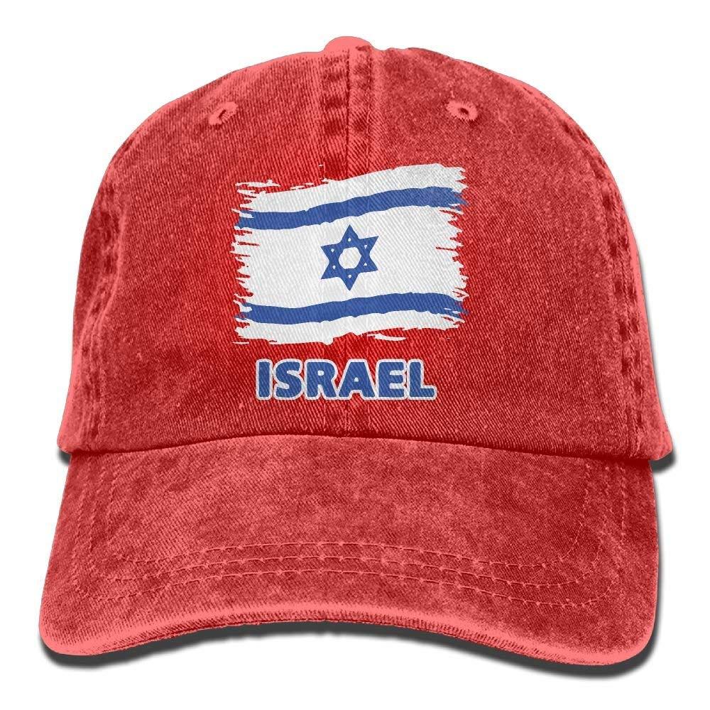 Gorra de Jeans de b/éisbol Bandera de Israel Hombres Mujeres Casete de Snapback Sombrero de pap/á Ajustable