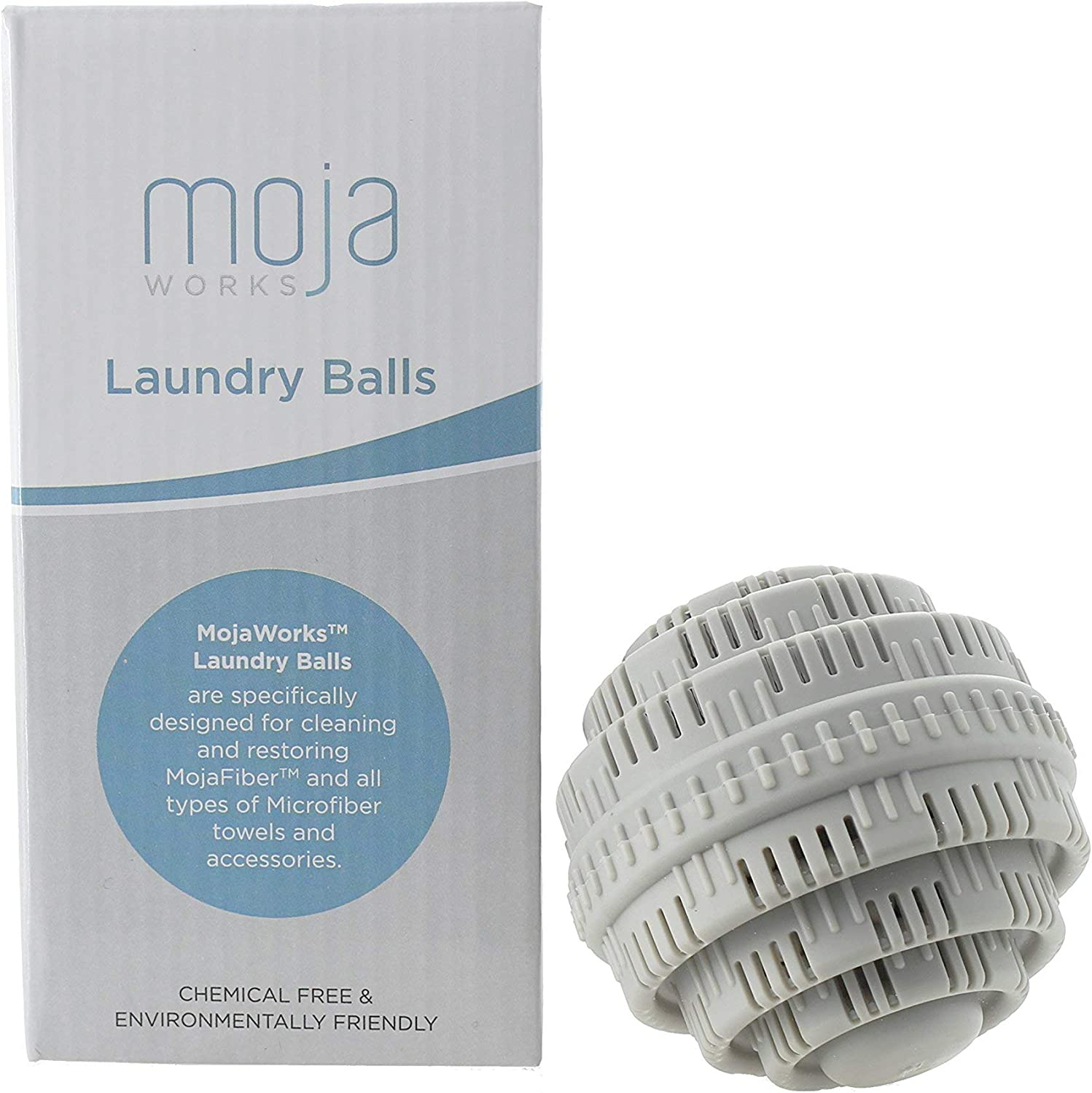 MojaFiber Microfiber Laundry Washing Balls - Detergent Chemical and Scent Free Eco-Friendly Natural Well Suited to Restore Microfiber and Any Fabric Good for up to 1000 Loads of Laundry 2-Pieces Set
