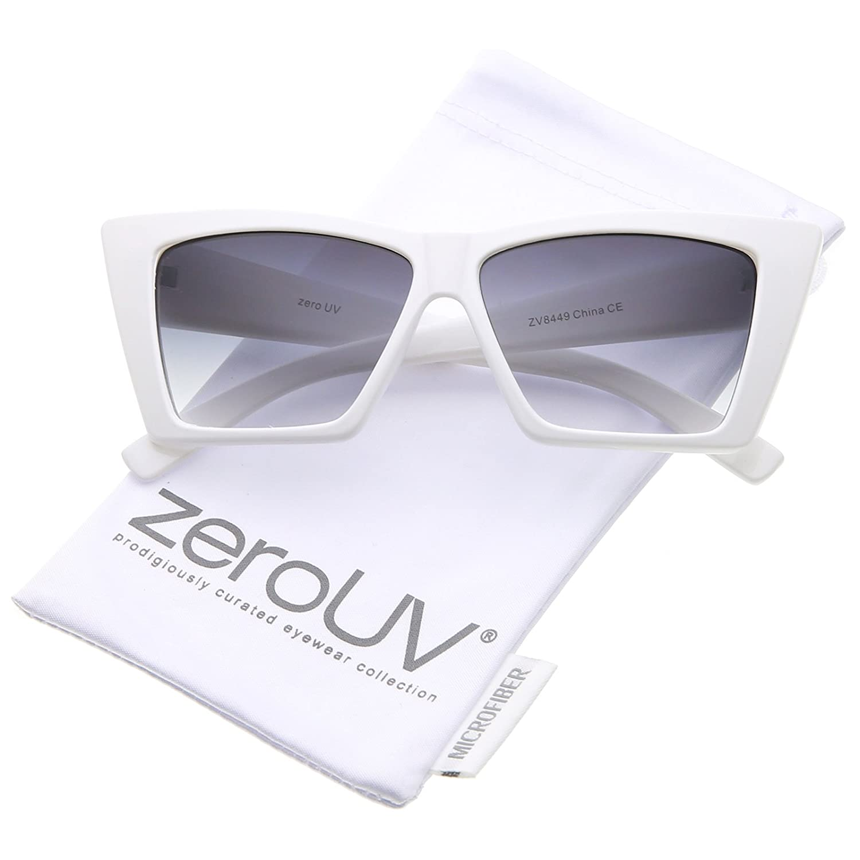 0052747519 Amazon.com  High Point Geometric Frame Square Lens Cat Eye Sunglasses 58mm  (White Lavender)  Clothing
