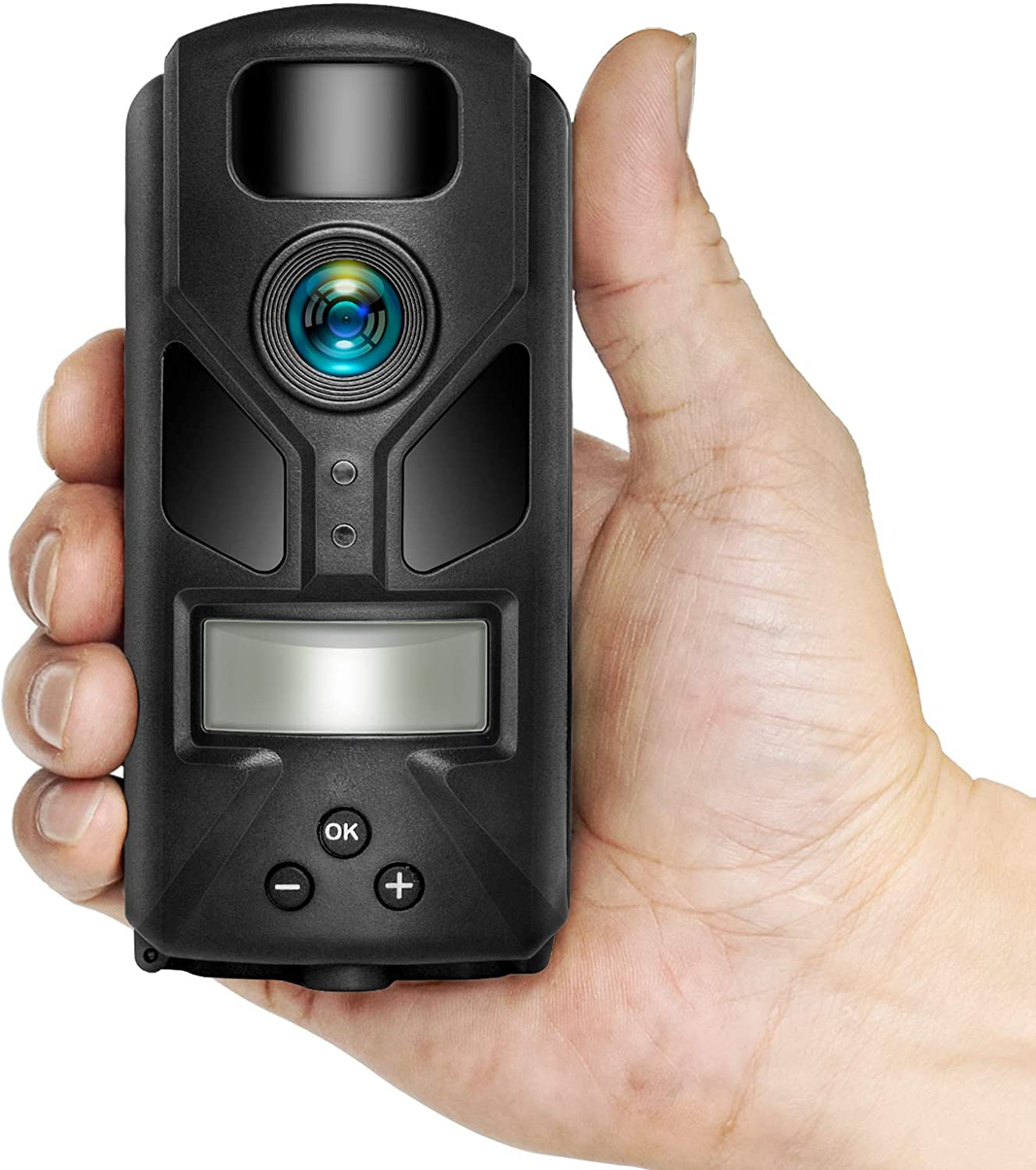 Mini Trail Camera 20MP 720P with Night Vision Motion Activated Waterproof Hunting Camera with 940nm IR LEDs with LCD Display for Outdoor Wildlife Monitoring and Home Security by OUTDOOR EXPERT