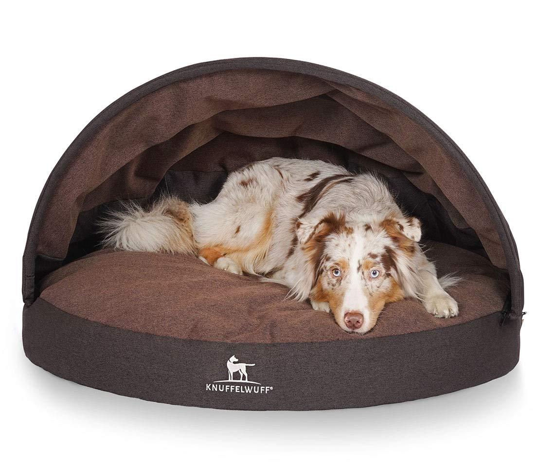 Black   brown Knuffelwuff Lucas Dog Bed Diameter 100 cm