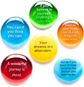 Lifeforce Glass Destiny Stones I, Create Your Own Future with These Encouraging and Motivational Messages on Glass Stones. Packaged in Deluxe Gift Box