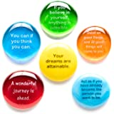 Lifeforce Glass Destiny Stones I, Create Your Own Future with These Encouraging and Motivational Messages on Glass…