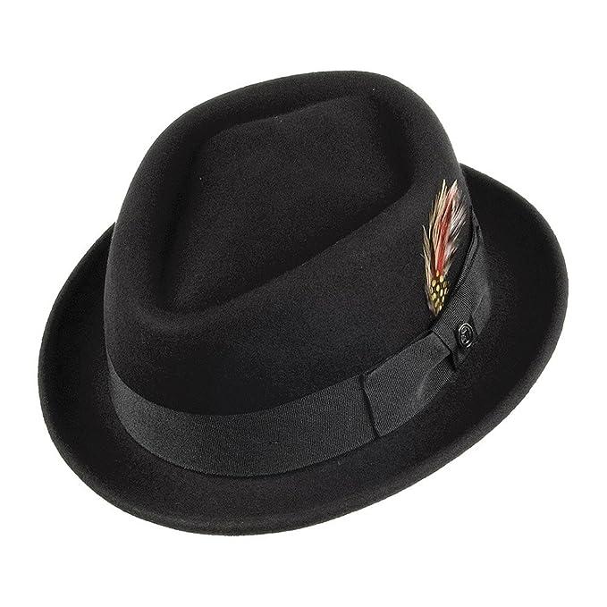 Jaxon   James Village Hats Sombrero Pork Pie Corona Diamante - Negro   Amazon.es  Ropa y accesorios 9ccc2b30746