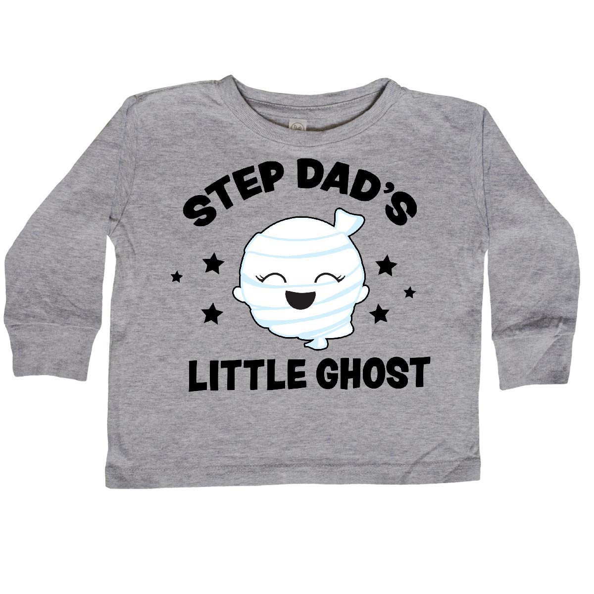 inktastic Cute Step Dads Little Ghost with Stars Toddler Long Sleeve T-Shirt