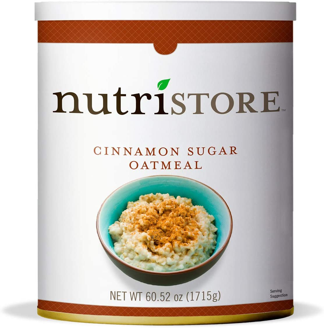 Nutristore Cinnamon Oatmeal #10 Can | Premium Variety Ready to Eat Meals | Bulk Emergency Food Supply | Breakfast, Lunch, Dinner | MRE | Long Term Survival Storage | 25 Year Shelf Life