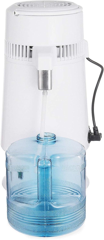 HODOY Distillatore D/'Acqua Purificatore Acqua 4L Acqua Distillazione 750W Depuratore Filtri Distiller Acqua Pura Water Distiller Contenitore Interno in Acciaio Inox Temperatura Regolabile