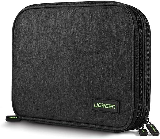UGREEN Organizador de Viaje Bolsa Portable para Accesorios Electrónicos como Tableta Batería Externa Disco Duro Nintendo Switch USB Cables Cargad
