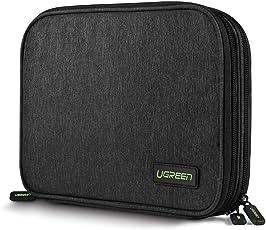 UGREEN Organizador de Viaje Bolsa Portable con Compartimentos para Accesorios Electrónicos como Tableta, Batería Externa, Disco Duro, Nintendo Switch, USB Cables, Cargadores, Tarjetas de Memoria, Memoria USB, etc.