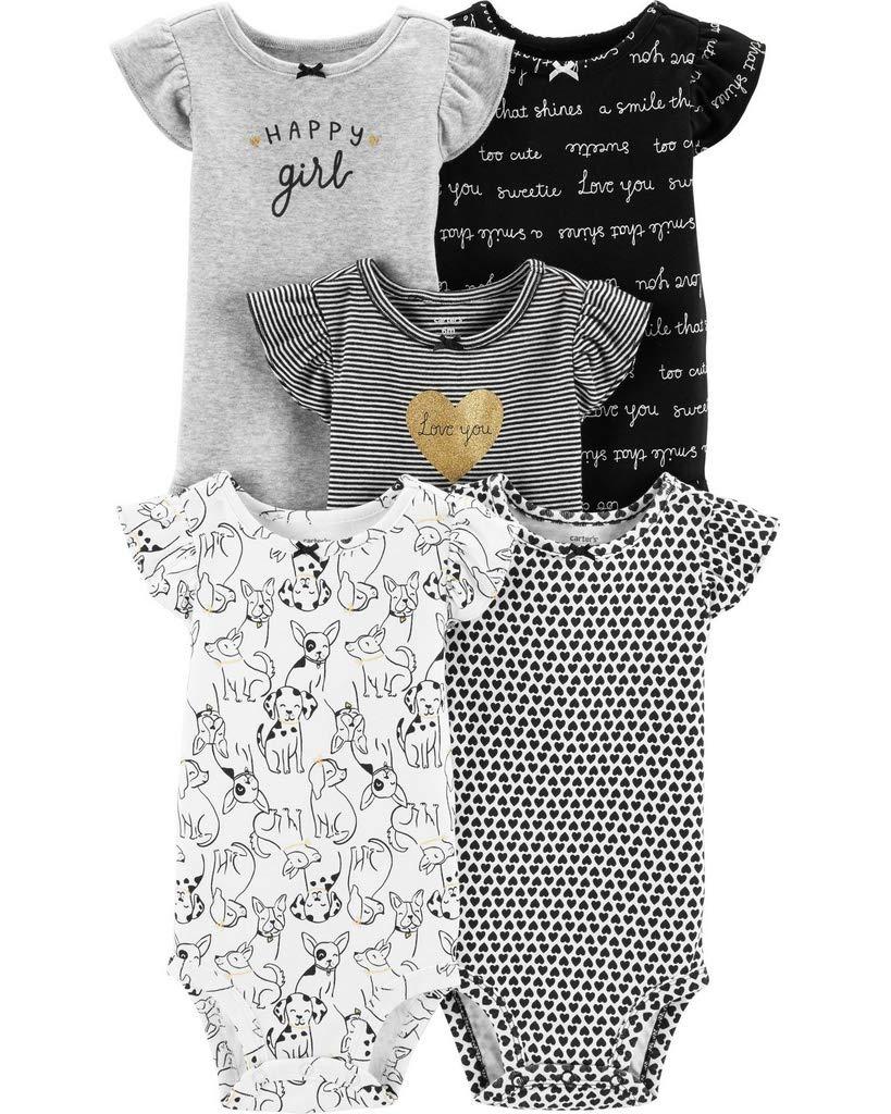 Carter's Baby Girls 5 Pack Bodysuit