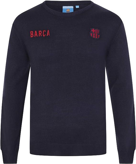 FCB FC Barcelona - Jersey de Punto con Cuello de Pico - Escudo del ...