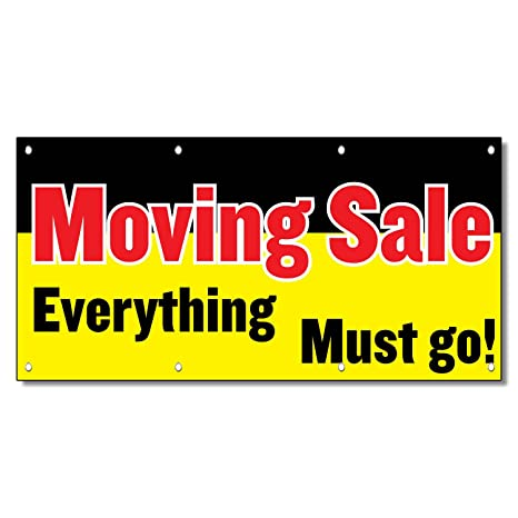 amazon com moving sale everything must go business 13 oz vinyl