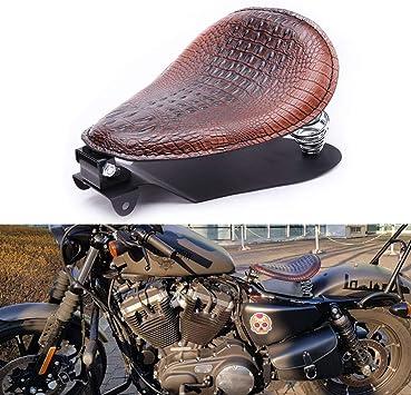 Front Steel Solo Seat Mount Black Bracket Hardware Fits Harley Chopper Bobber US