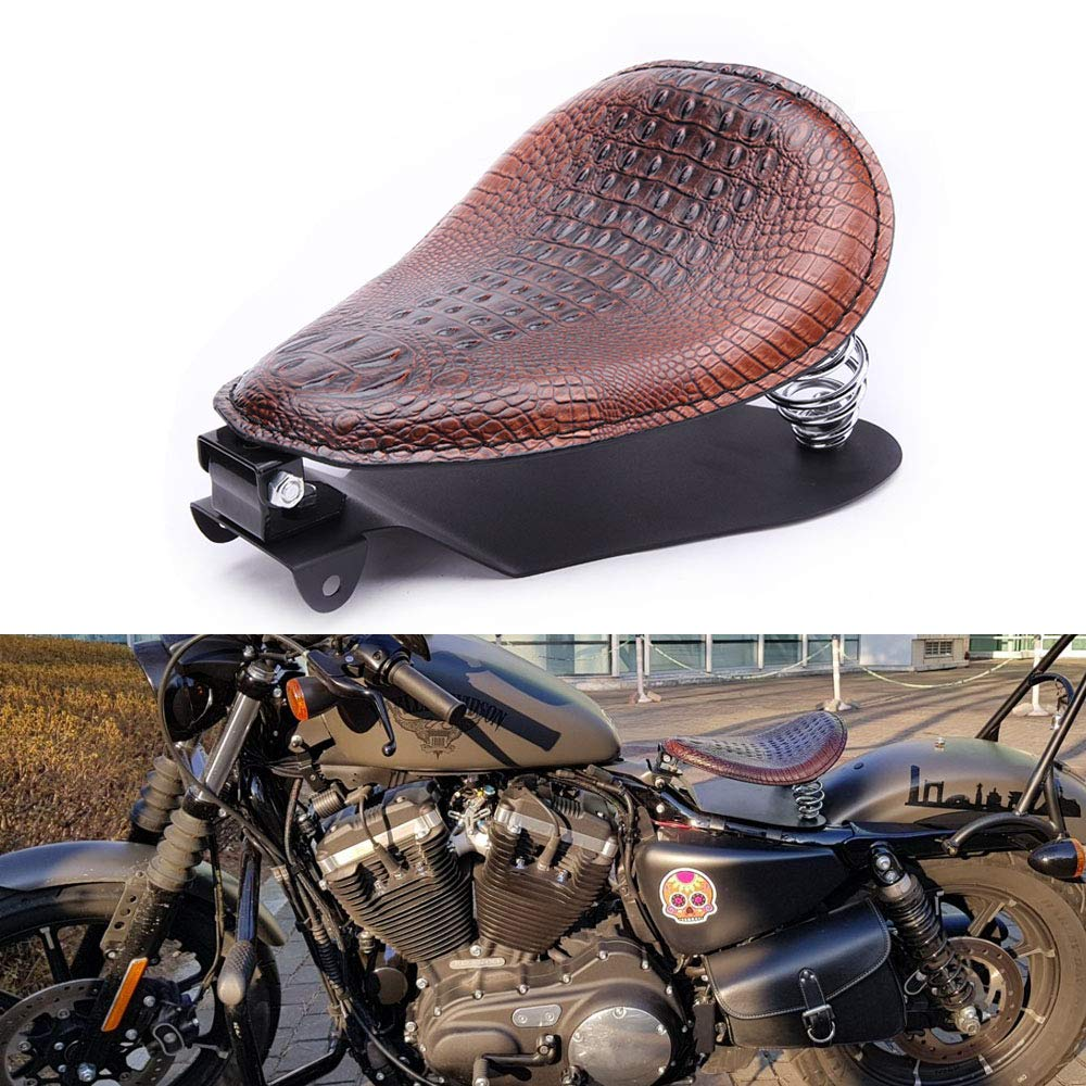Motorcycle Solo Seat Bobber With Base Plate For Harley Heritage Softail Springer