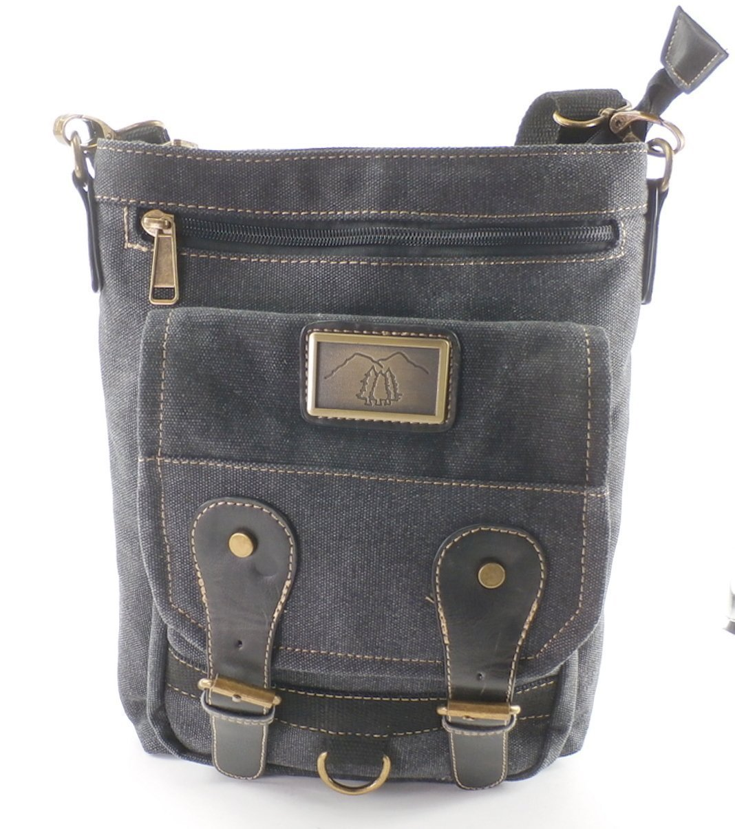 The Windom by Camille Conceals - Black Canvas Cross Body Concealed Carry Purse/Bag - Revolver or Compact Semi Automatic