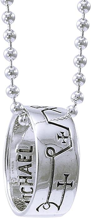 Alterras Anhänger mit Kette: Erzengel Michael mit Kette aus 925 Silber