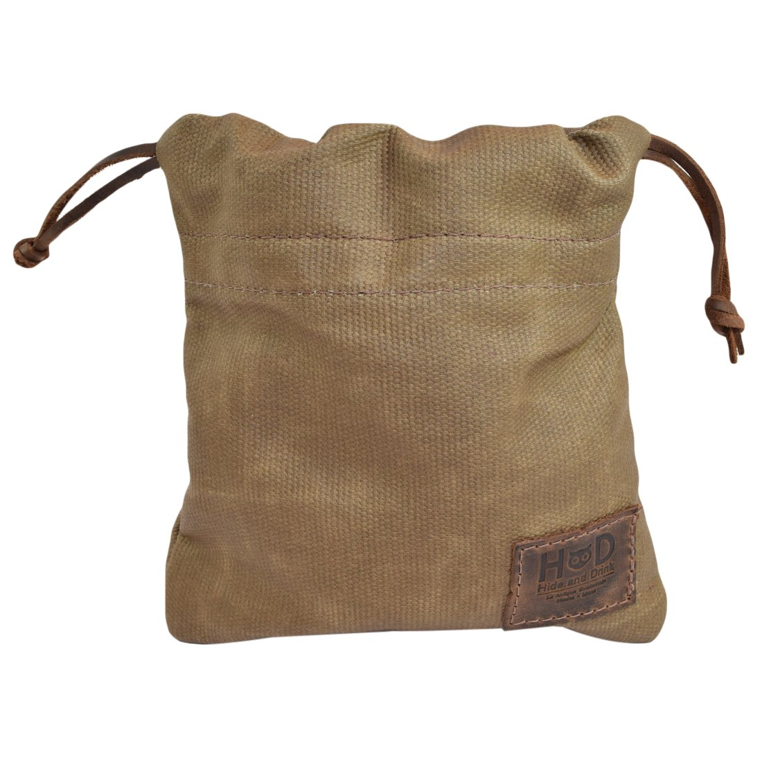 Hide & Drink Waxed Canvas Golf Valuables Field/Travel / Tech/Board Game Dice Pouch Handmade by Fatigue by Hide & Drink (Image #2)