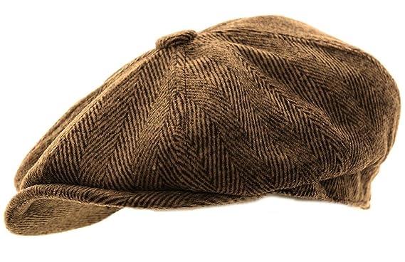 Mens Herringbone Baker Boy Caps Newsboy Hat t 146ba4d9ede9