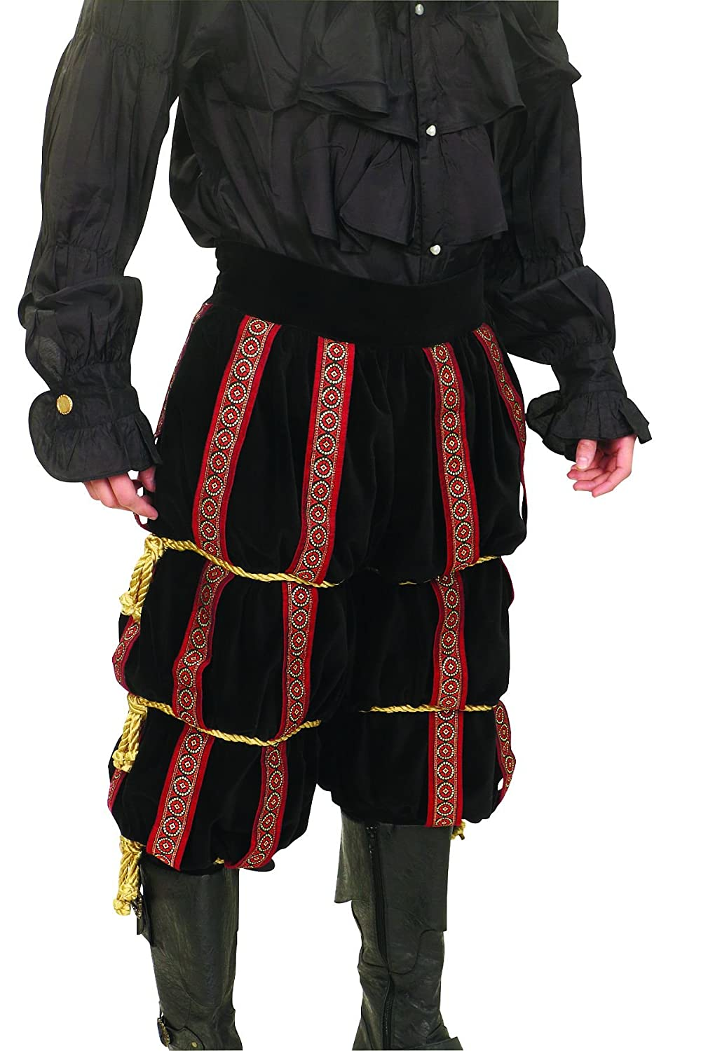5008a91e4 Amazon.com  Museum Replicas The Dark Jester Harlequin Ensemble Men s  Medieval Court Jester Costume (Small)  Clothing