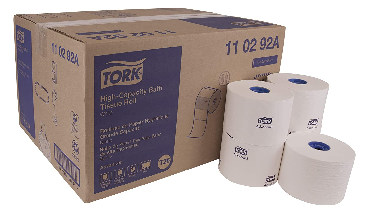 Amazon.com: TORK Advanced 110292A - Rollo de papel de baño ...