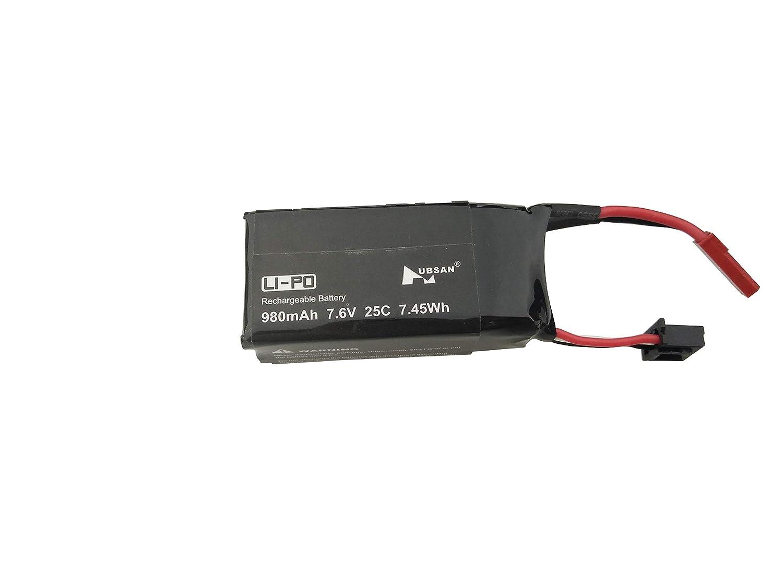 Fytoo 2PCS 7.6V 980mAh Lipo Batterie f/ür Hubsan H123D RC Quadrocopter Drone Zubeh/ör Batterie