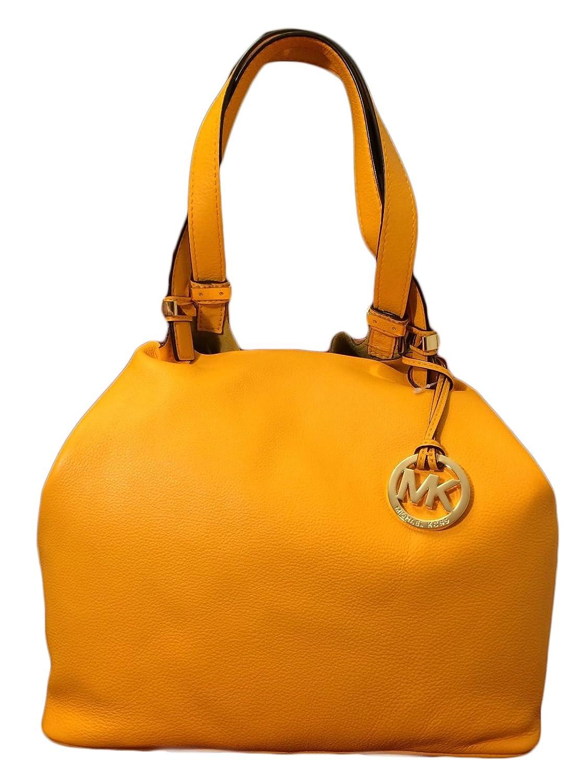 522784ee31e6 Michael Kors Colgate Large Grab Bag in Reversible Sun Yellow Leather   Suede   Handbags  Amazon.com
