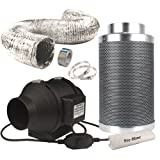 Casolly 6-Inch Inline Fan Carbon Filter Fan Combo