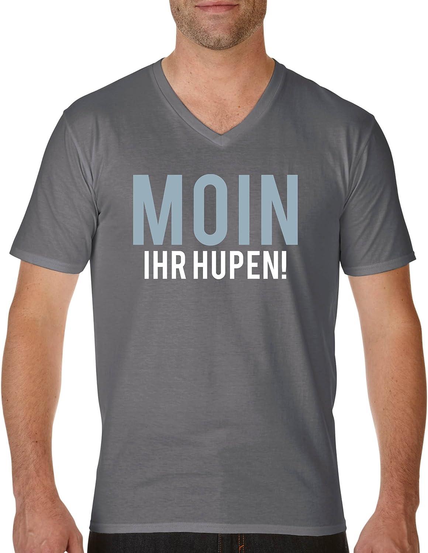 V-Ausschnitt Damen V-Neck 100/% Baumwolle Selber Moin Comedy Shirts Kurzarm Top Basic Print-Shirt