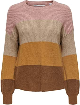 Only Onlsandy L/S Stripe Pullover CC Knt Suter Pulver para Mujer