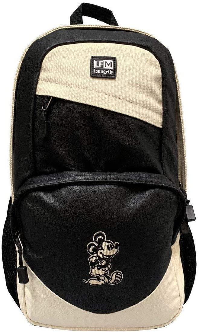 Loungefly Mickey Mouse Taupe Nylon Backpack Taupe