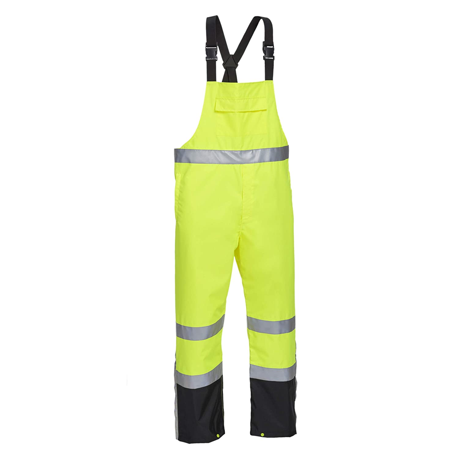 West Chester JD44530 John Deere High Visibility ANSI Class III Rain Suit Jacket and Bib with Color Block: Lime Green/Black, Large, 3M Reflective Tape, Reflective John Deere Logo: Industrial & Scientific