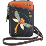 Chala Wallet Crossbody Cell Phone Purse-Women Faux Leather Multicolor Handbag with Adjustable Strap