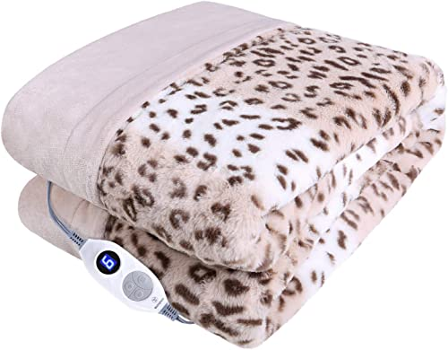 Westinghouse Electric Blanket Heated Throw Luxury Faux Fur to Flannel Reversible Heating Blanket 50″x60″