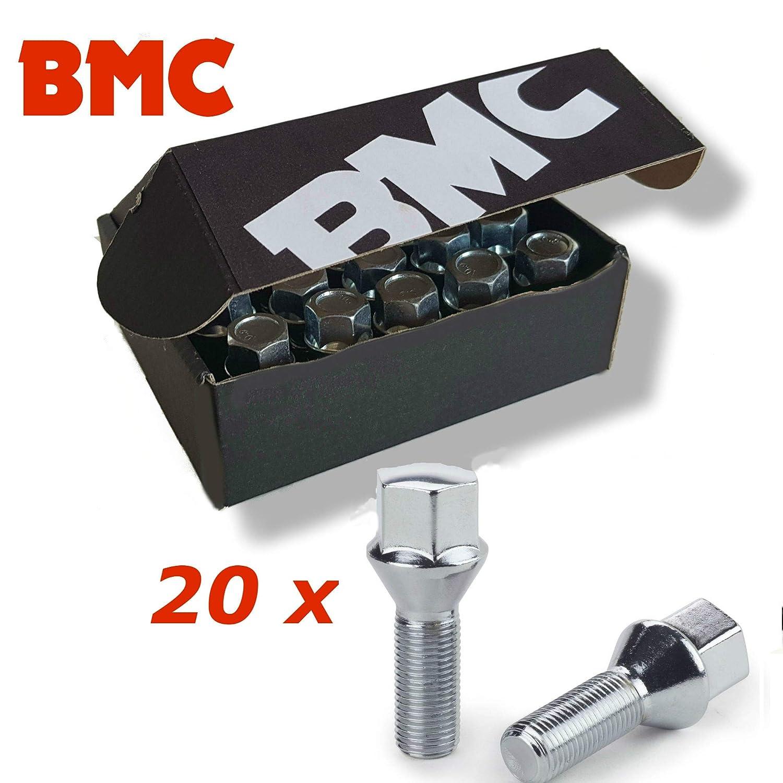 BMC 20 bulloni Ruota bulloni M12 x 1, 25 26 mm Cono 60° . 25 26 mm Cono 60°.