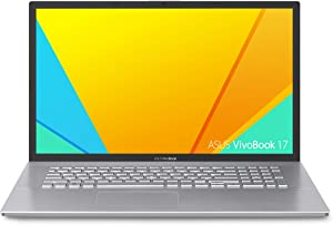 "Asus Vivobook 17 F712FA Thin and Light Laptop, 17.3"" HD+, Intel Core I5-8265U Processor, 8GB DDR4 RAM, 128GB SSD + 1TB HDD, Windows 10 Home, Transparent Silver, F712FA-DB51"