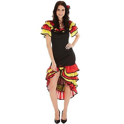 TecTake dressforfun Disfraz bailaora de Flamenco para Mujer ...