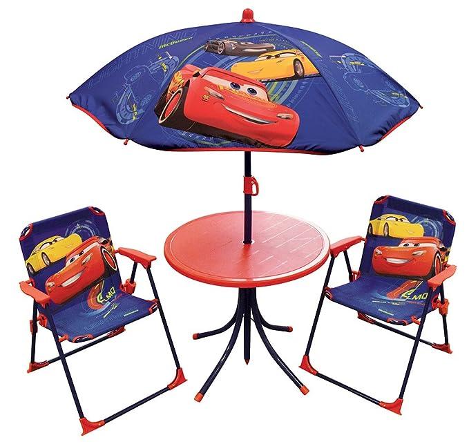 Comprenant Disney Table2 Cars Pour Parasol Pliables 1 Salon Jardin Chaises Enfant De Fun House Et 5AjRL43q