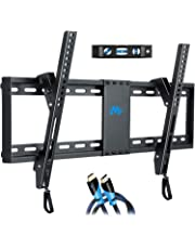 "Mounting Dream Tilt TV Wall Mount Bracket for Most 37-70 Inches TVs, TV Mount with VESA up to 600x400mm, Fits 16"", 18"", 24"" Studs and Loading Capacity 132 lbs, Low Profile and Space Saving MD2268-LK"