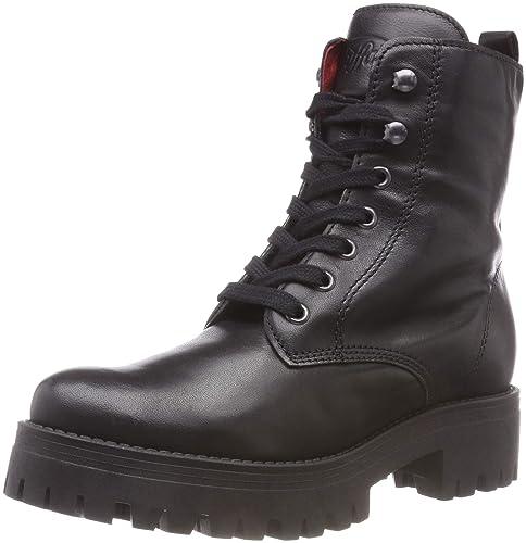 32326fc104e90a Buffalo Shadow Iberocrust Leather, Stivali Combat Donna, Nero (Black 01 00),