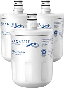 Maxblue NSF 53&42 Certified 5231JA2002A Refrigerator Water Filter, Replacement for LG LT500P, GEN11042FR-08, LFX25974ST, ADQ72910901, ADQ72910907, Kenmore 9890, 46-9890, 469890, Pack of 3