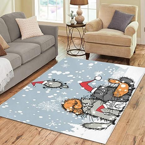 Christmas Area Rugs 8 X 10.Amazon Com D Story Sweet Home Art Floor Decor Christmas