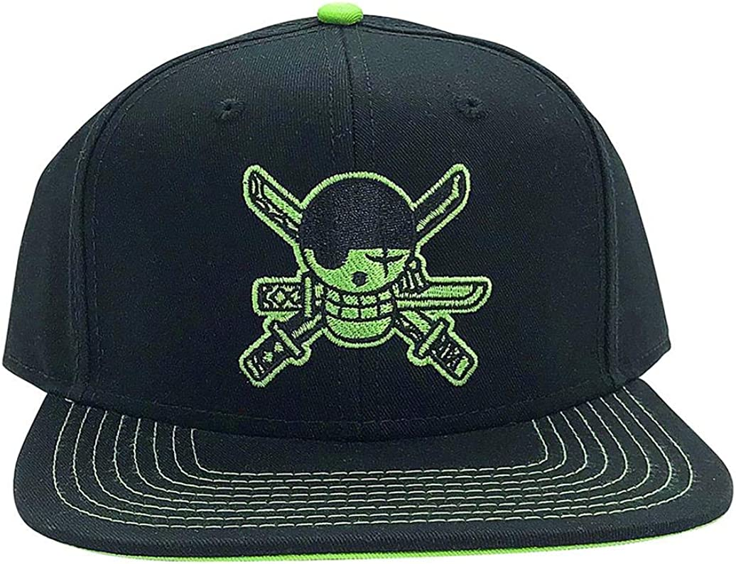 Ripple Junction One Piece Adult Unisex Zoro Skull Flat Bill Snap Back Hat