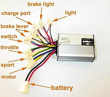 36V48V 1000W Controlador eléctrico del motor del cepillo de ...