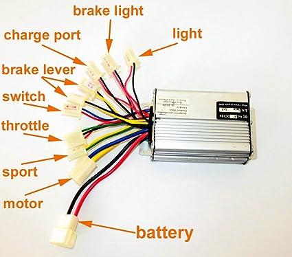 l-faster 36v48v 1000w scooter brush motor controller motor controller for  tricycle scooter brushed controller