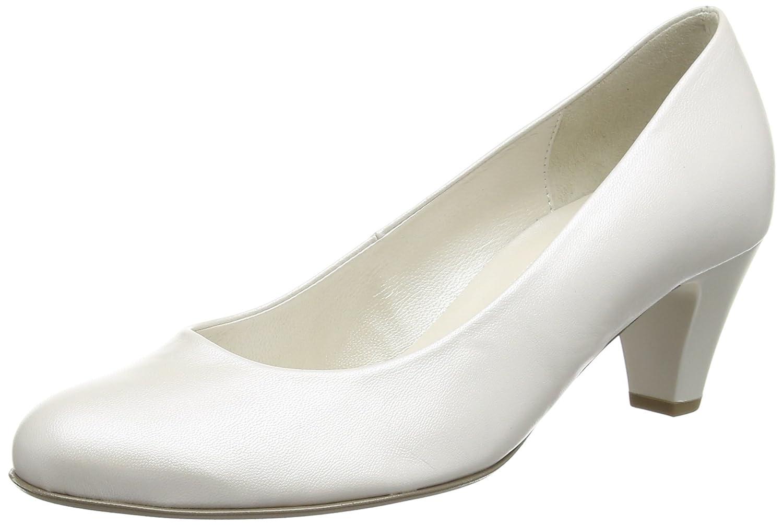 Gabor Shoes Gabor Fashion, Zapatos de Tacón para Mujer, Blanco (Weiss+Absatz), 38.5 EU