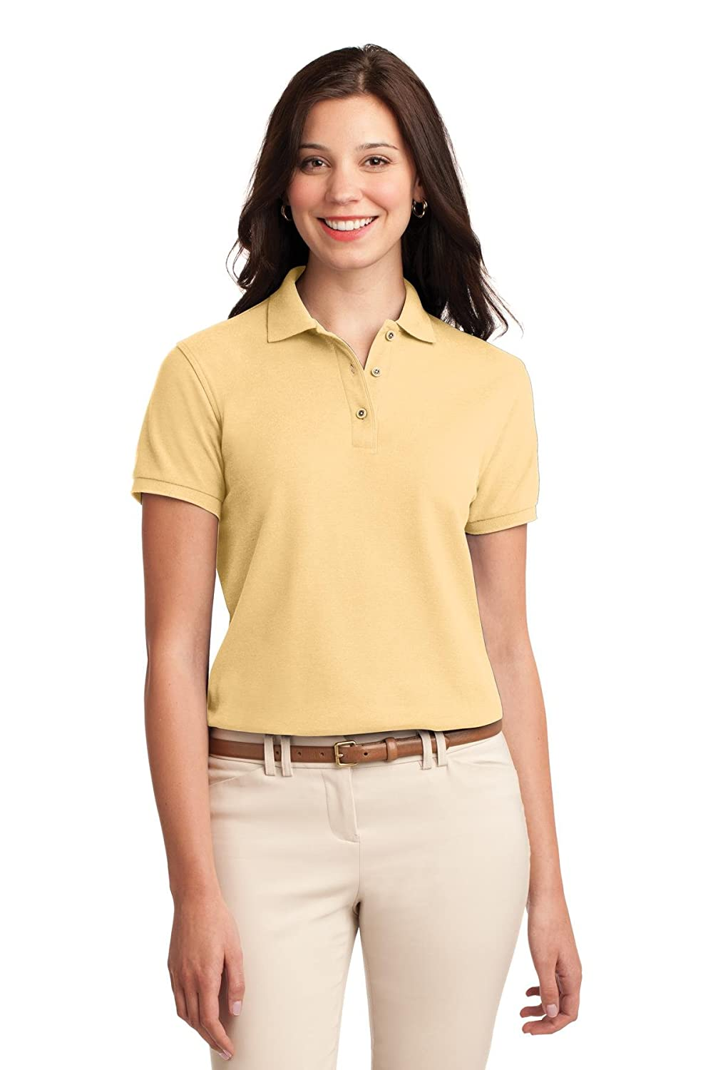 700460ae Port Authority® Ladies Silk TouchTM Polo. L500 at Amazon Women's Clothing  store: