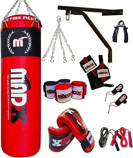 MADX Sac de frappe garni 1,5/m pour boxe et kickboxing avec cha/îne